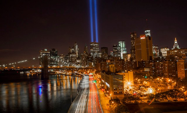 View from the Manhattan Bridge September 11th