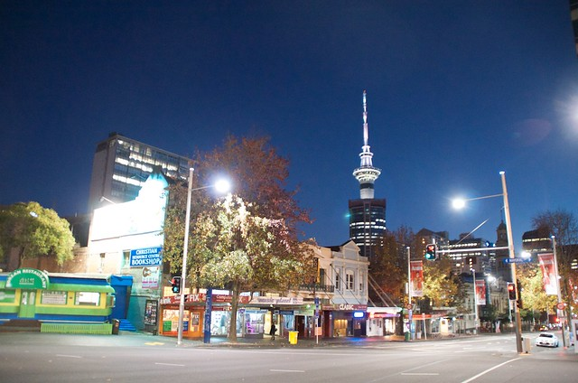 night shot in Auckland