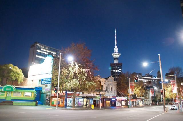 night shot in Auckland