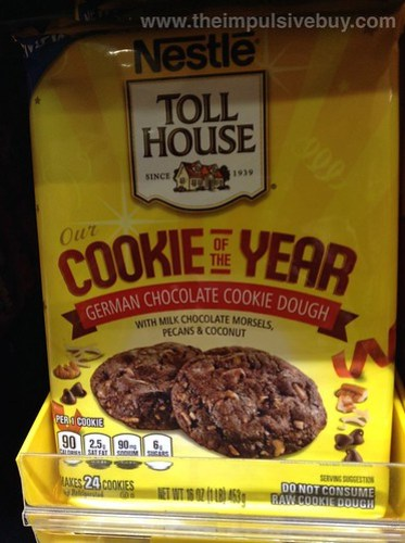 Nestle Toll House Cookie of the Year German Chocolate Cookie Dough