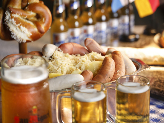 Oktoberfest spread at Sofitel