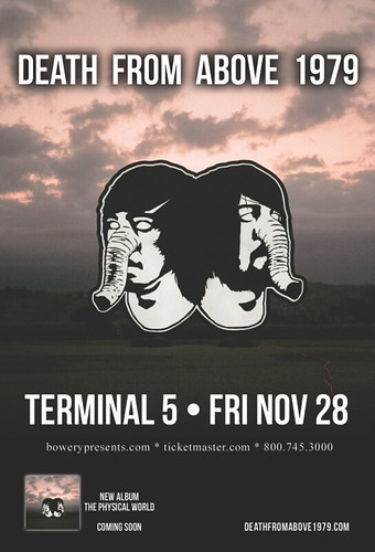 Death From Above 1979 at Terminal 5 Friday, November 28th