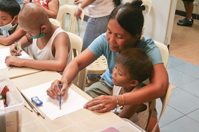 Aniceta and her son Bryan