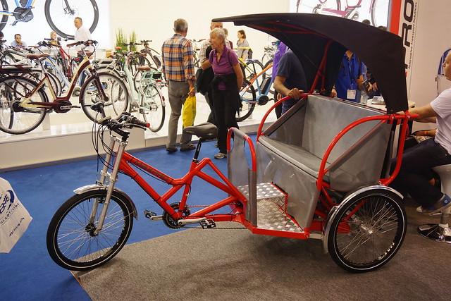Eurobike 2014: pedal rickshaw
