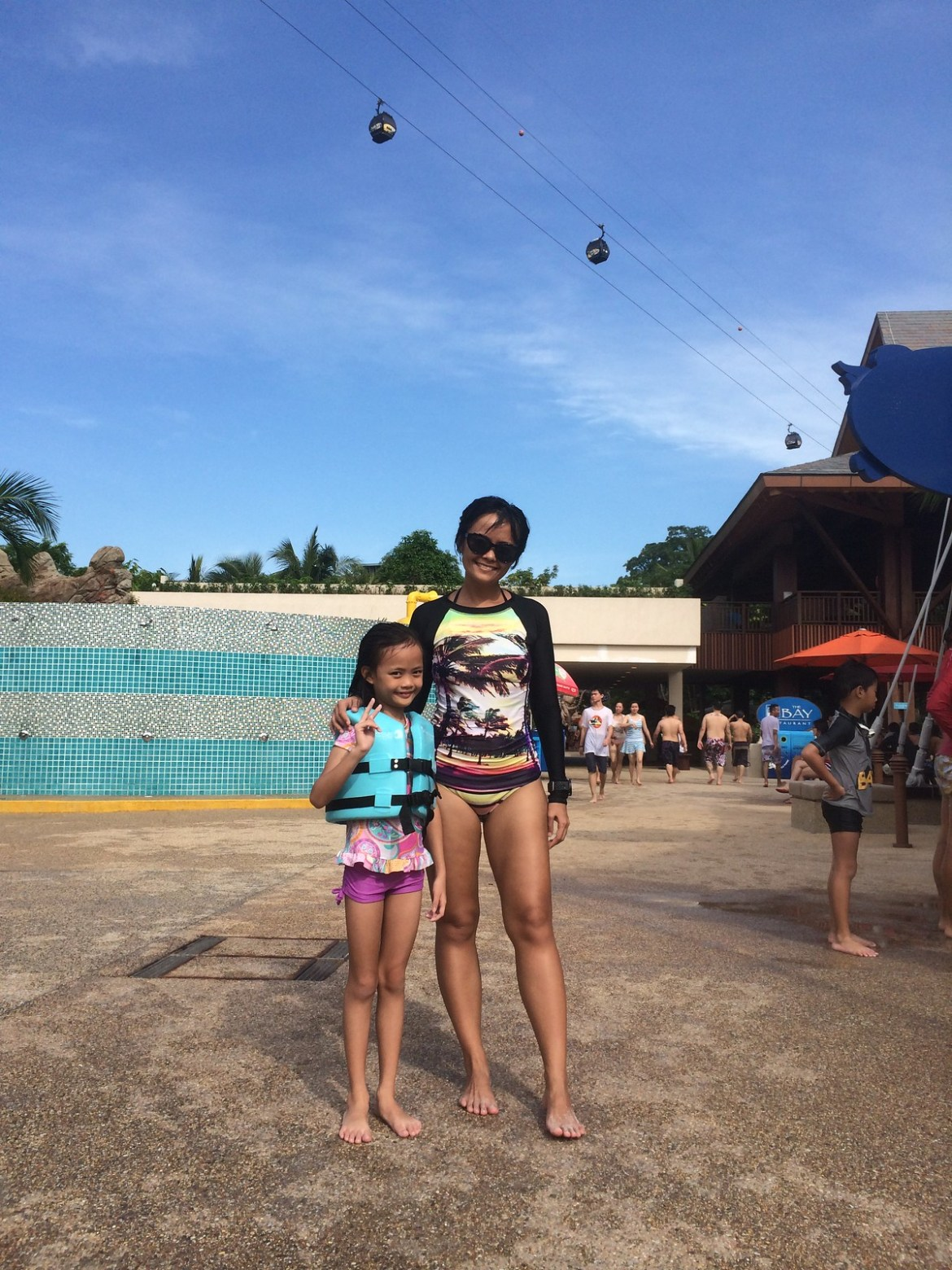 Sentosa Adventure Cove for Aina's 7th birthday!