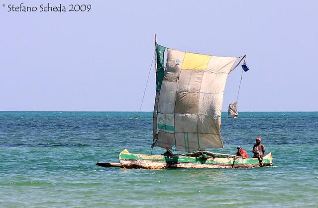 Fishing outrigger boat - Toliara, Madagascar