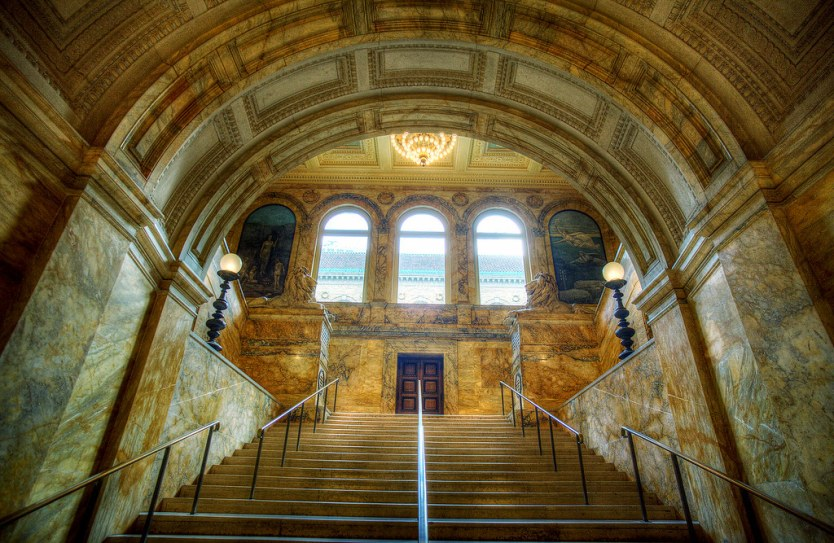 Grand Staircase, Boston Public Library.