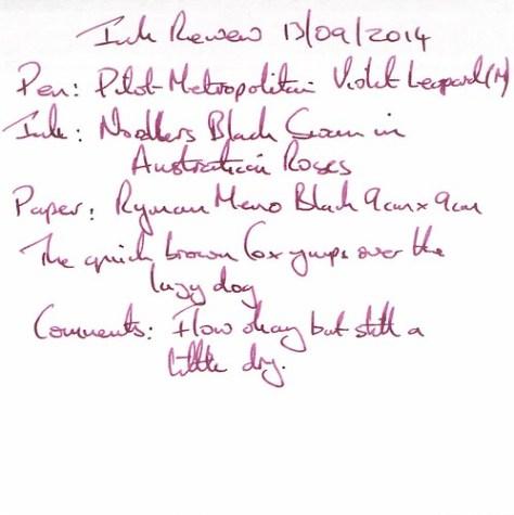 Noodler's Black Swan in Australian Roses - Ink Review - Ryman Memo
