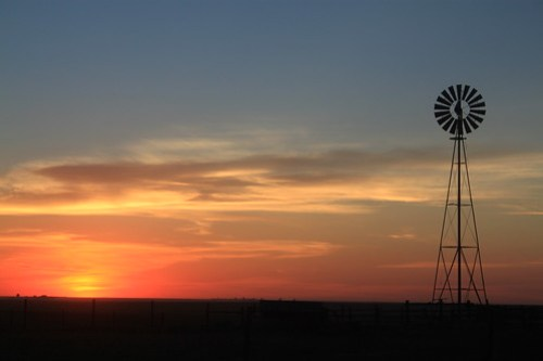 Windmills and sunsets.