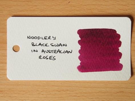 Noodler's Black Swan in Australian Roses - Ink Review - Word Card