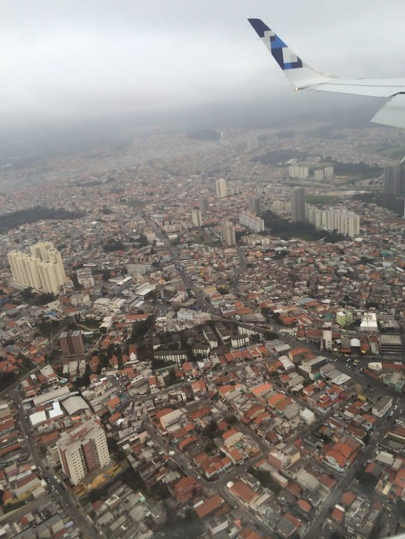 サンパウロ上空