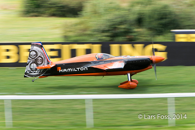 Nicolas Ivanoff taking off for his training