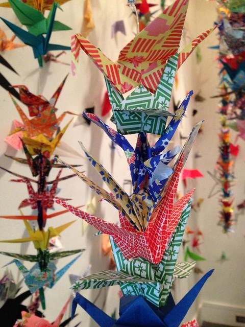 Paper Cranes at the Birmingham Museum of Art