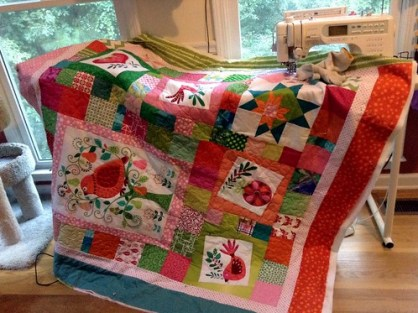 Birdie Christmas Quilt in progress