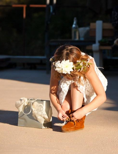 Erik & Kimmy - flower girl zara in charabia dress and moccasins