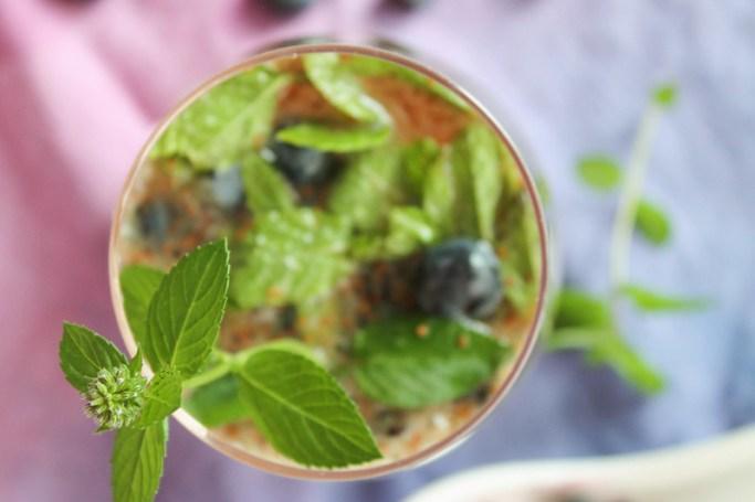 Vrigin mojito aux myrtilles