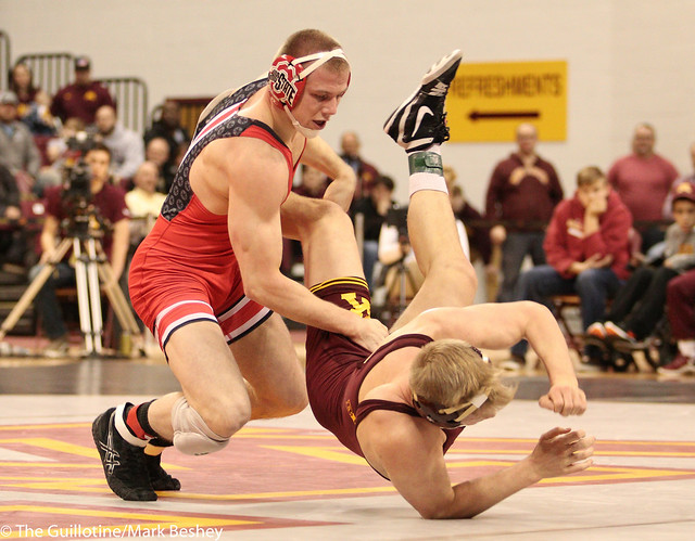 174 #1 Bo Jordan (Ohio State) fall Chris Pfarr (Minnesota) 2:15
