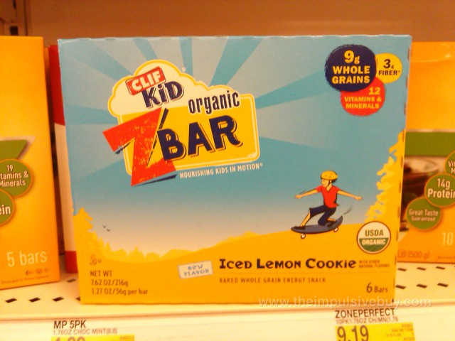 Clif Kid Iced Lemon Cookie Organic ZBar