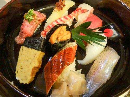 エクシブ白浜アネックスの「海幸」 ルームサービスのお寿司