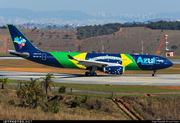 Azul recibió su 2do A330 y con livery especial Flight