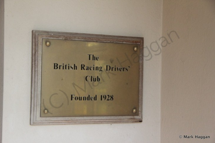 The plaque on the wall of the Silverstone Farm