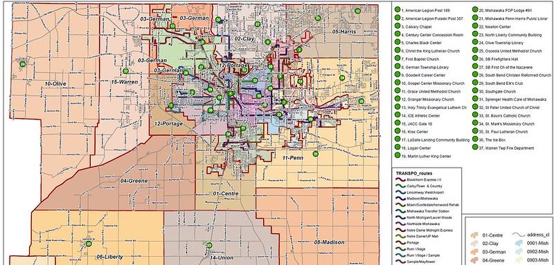 St. Joseph County Vote Center Map