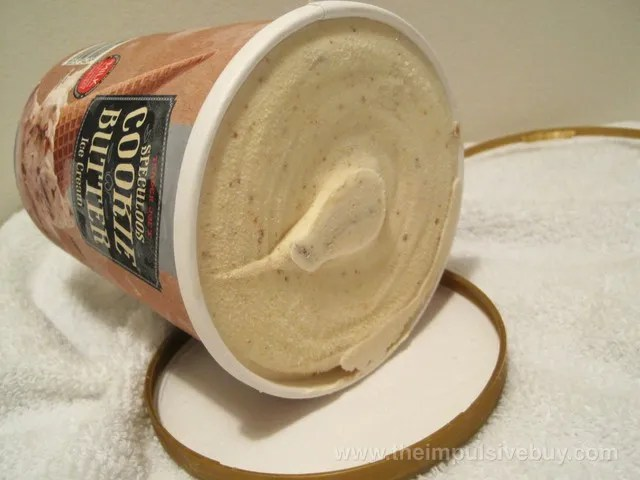Trader Joe's Speculoos Cookie Butter Ice Cream The untouched ice cream