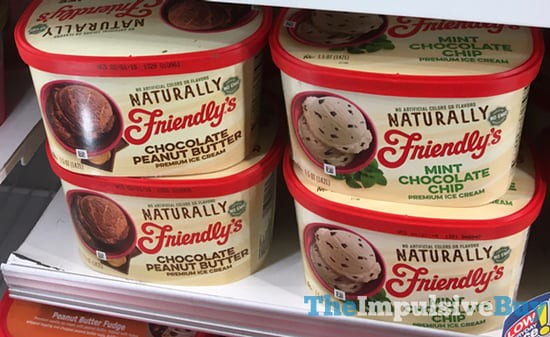 Naturally Friendly's Chocolate Peanut Butter and Mint Chocolate Chip Premium Ice Creams