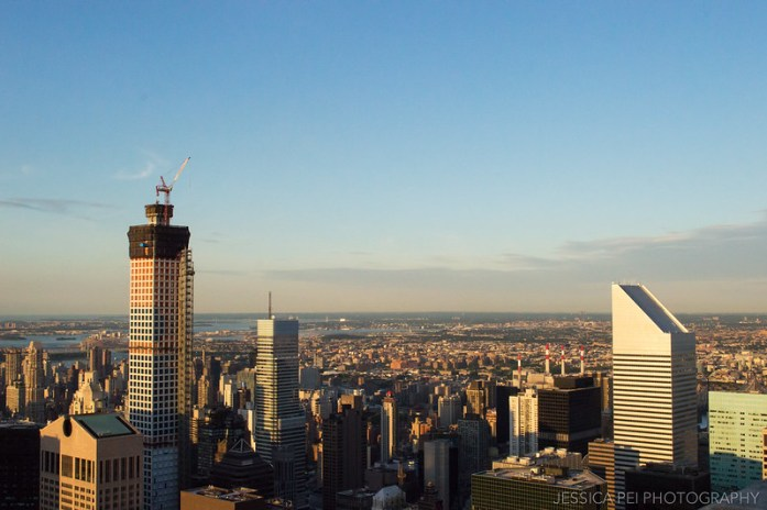 Top of the Rock Observation Deck New York City during Sunset