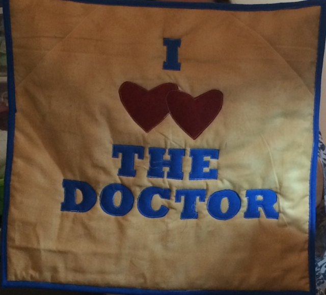 Melissa's Dr Who Quilt