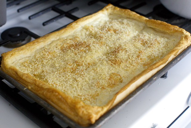 base, baked with roasted garlic and parmesan
