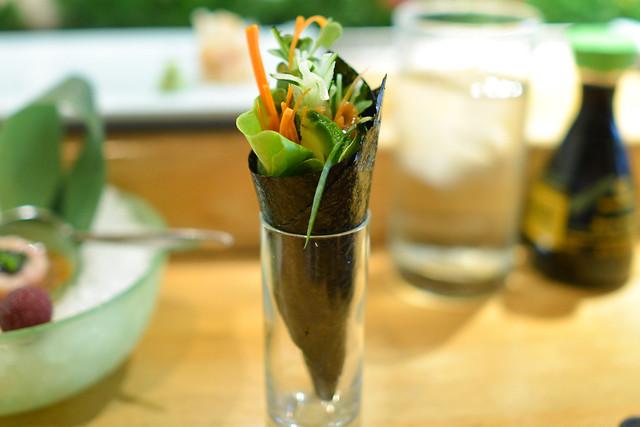 Vegetable Roll sesame miso