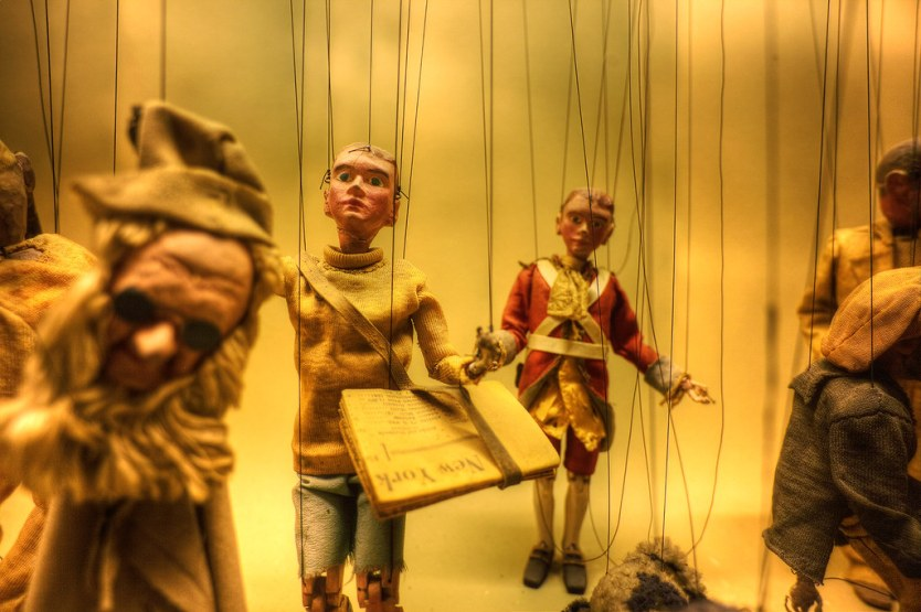 A glimpse of the puppet display.
