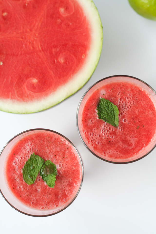 watermelon ginger mint slush [ inthiskitchen.com ]