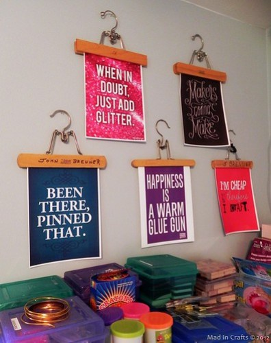 skirt hanger art via Mad in Crafts