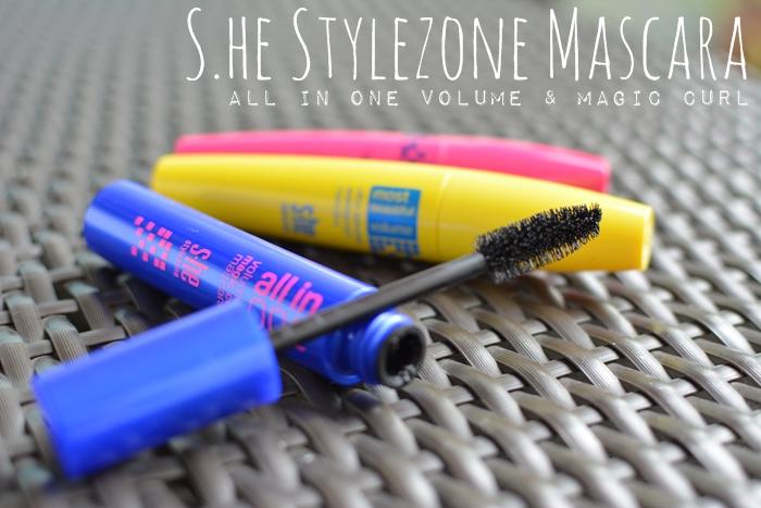 s.he stylezone all in one volume & magic curl mascara