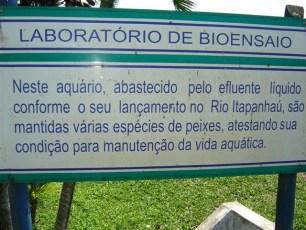 Placa ilustrativa do Projeto Aquárius