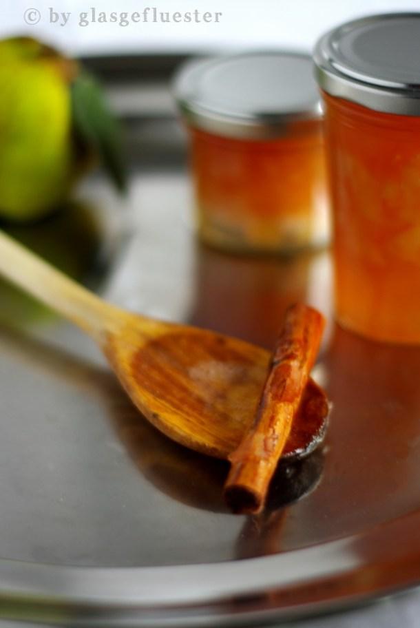 Quitten Apfel Marmelade mit Zimt by Glasgeflüster 2 klein