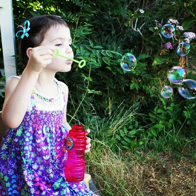 It's the little things... #bubbles #magicalchildhood #homeschool