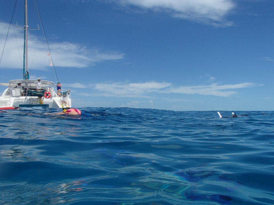 A view of the boat from the ocean