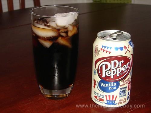 Limited Edition Dr Pepper Vanilla Float Closeup