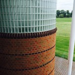 Brick circular Wall with Glass block