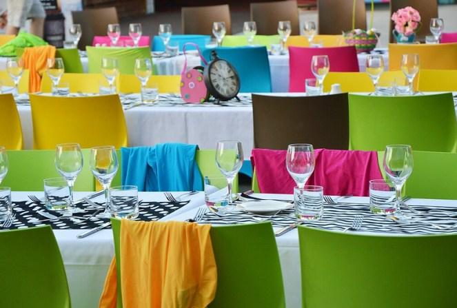 Colourful table setting, dreamworld, gold coast
