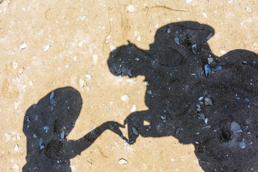 Love shadow, Wood End Beach, Cape Cod.