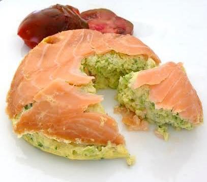 Mousse de courgette menthe et saumon fumé