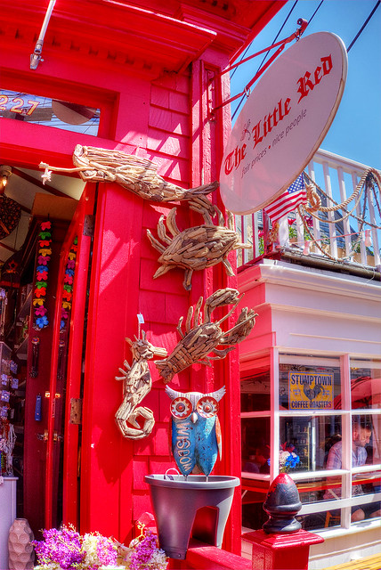 The Little Red store, Provincetown, MA.