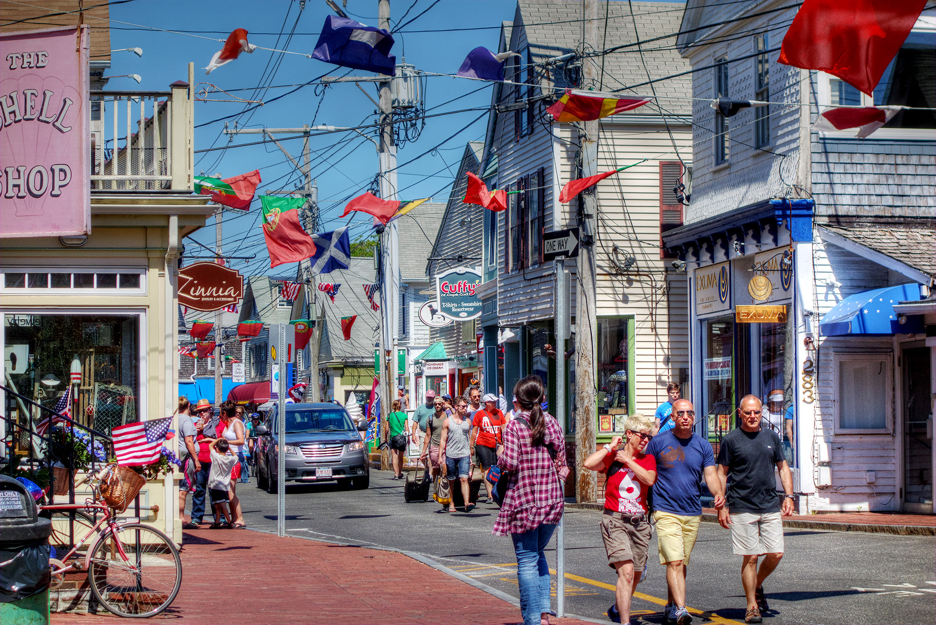 Commercial Street, Provincetown, MA.