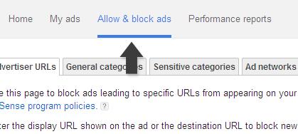 Allow & block ads