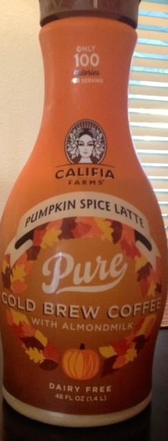 Califia Farms Pumpkin Spice Latte Pure Cold Brew Coffee with Almondmilk