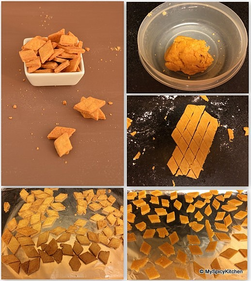 Gram Flour Crackers,  Spicy Crackers, Savory Crackers, Home Bakers Challenge,